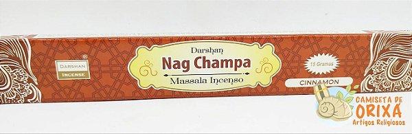 Incenso Nag Champa Cinnamon Darshan Massala