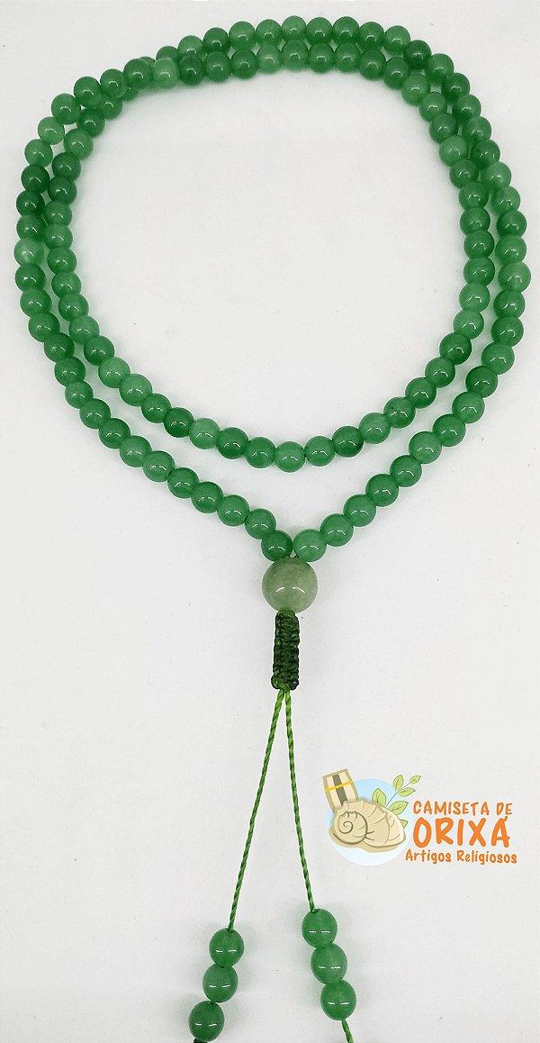 Japamala Quartzo Verde Colar 108 contas