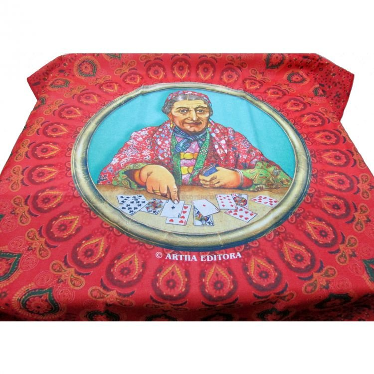 Toalha Para Baralho Mandala Da Vovó Cigana 70cm