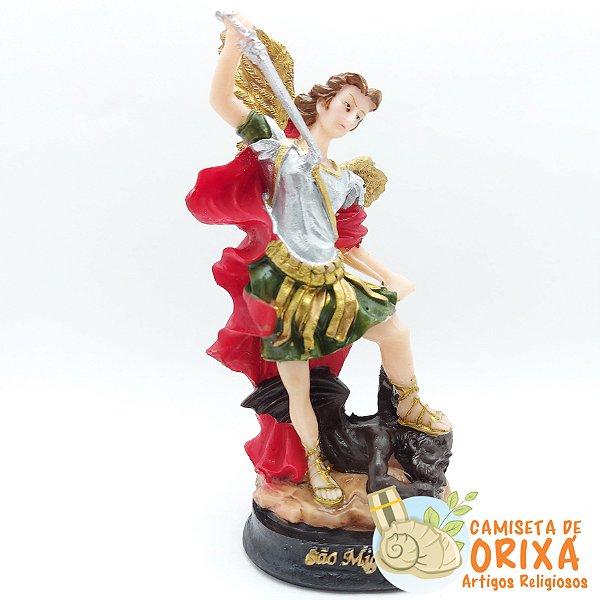 São Miguel Arcanjo 15cm resina