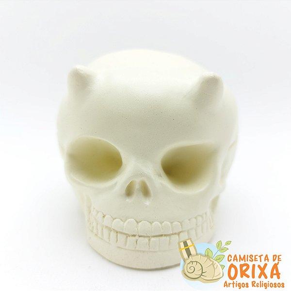 Cranio Caveira Suporte Vela 11cm