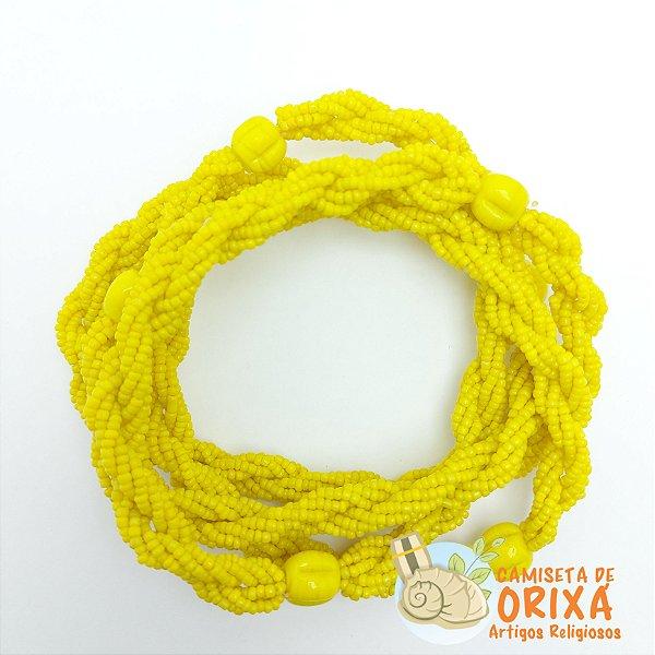 Brajá Miçanguinha Amarelo Leitosa