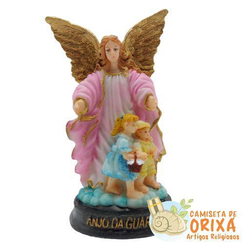 Anjo da Guarda Rosa 12 resina