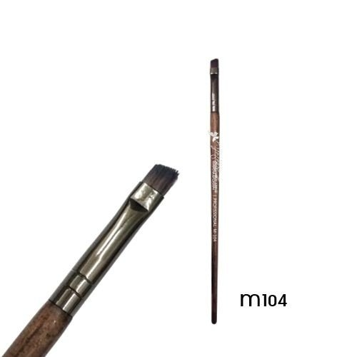 Pincel chanfrado delinear Linha Madeira Macrilan Profissional M104