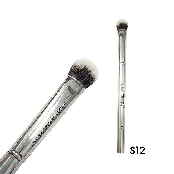 Pincel Sombra Esfumar Macrilan Linha Silver Prata S12
