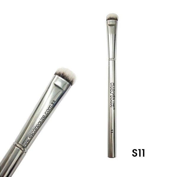 Pincel Sombra Achatado Macrilan Linha Silver Prata S11