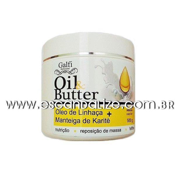 Hidratação Nutrição Óleo de Linhaça Manteiga de Karitê Galfi 500g