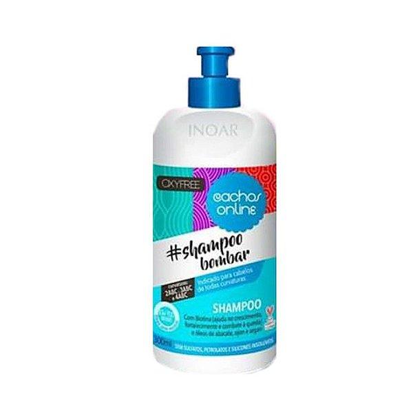 Inoar Cachos Online Shampoo Bombar Sem Sulfato Low Poo 300ml