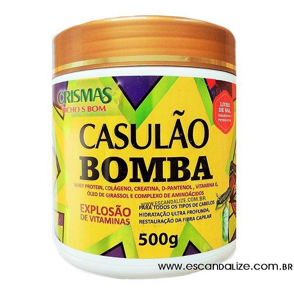 Creme Tratamento Cabelos Danificados Casulão Bomba 500g