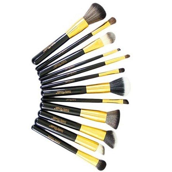 Pincéis de Maquiagem Macrilan Linha Gold
