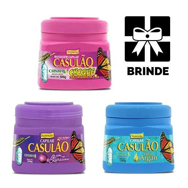 Kit Cronograma Capilar Barato Casulão NutriBrilho 3 Itens