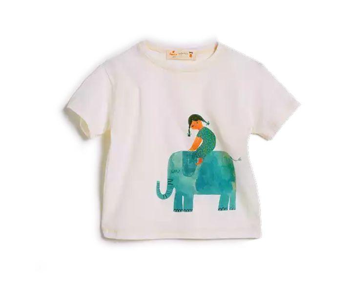 Camiseta Nina e o Elefante