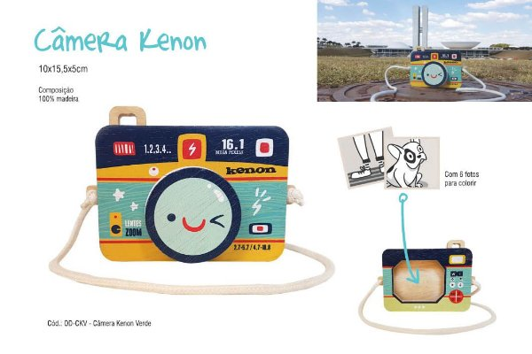 Câmera Kenon Azul