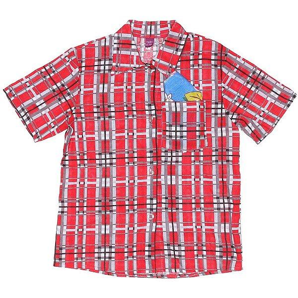 Camisa Vermelha com Lenço