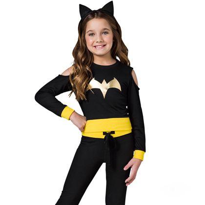 pijama longo Batgirl