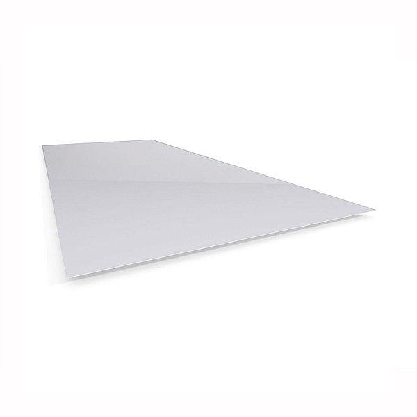 Chapa Telha Plana Polipropileno Translúcida 1,20 X 1,20M