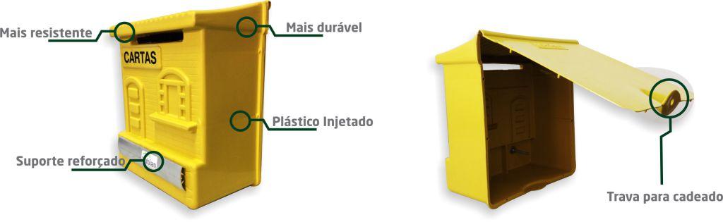 Caixa De Correio Colonial Plástica