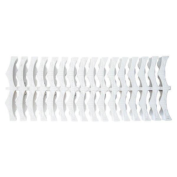 Kit 5 Metros Grelha Plástica Flexível Para Piscinas - 20 Cm