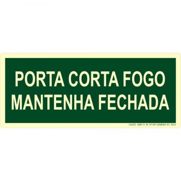 Placa M4 Porta Corta Fogo Mantenha Fechada