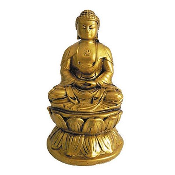 Buda dourado com cruz Suástica