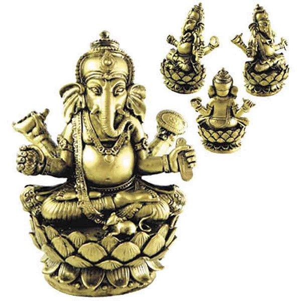 Ganesha na flor de lótus, Dourado