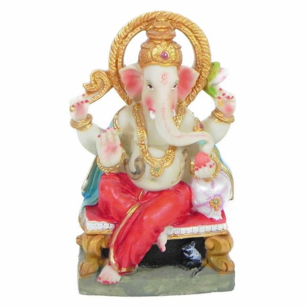 Deus Hindu Ganesha estatua de resina colorido