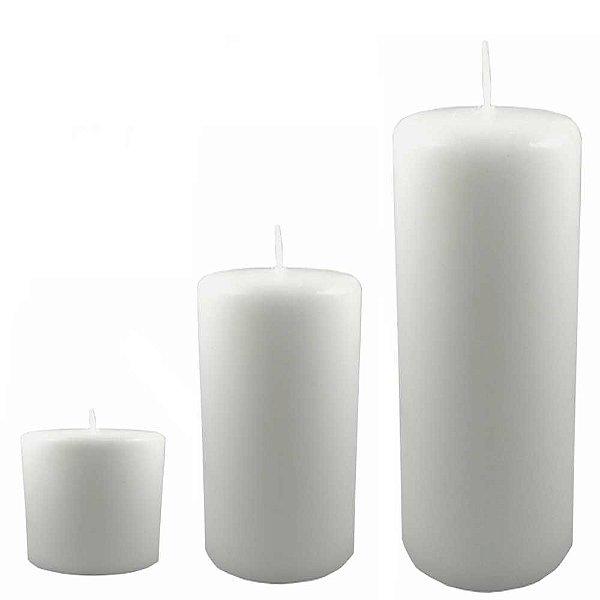Kit com 3 velas para decoração branca