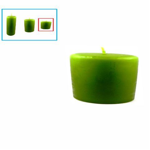 Velas para decoração pequena, verde