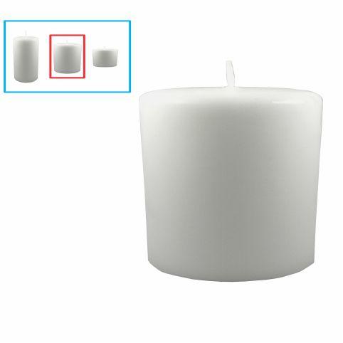 Vela para decoração média, branca