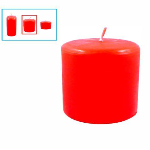 Velas para decoração média, vermelha
