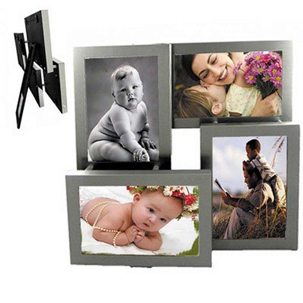 Porta retrato Fosco de Mesa para 4 fotos