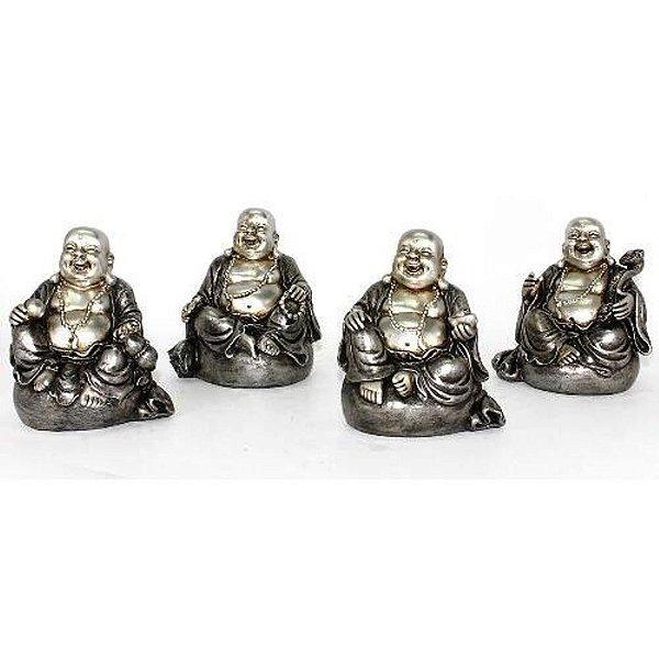 Conjunto de Buda Sorridente sentado Fortuna