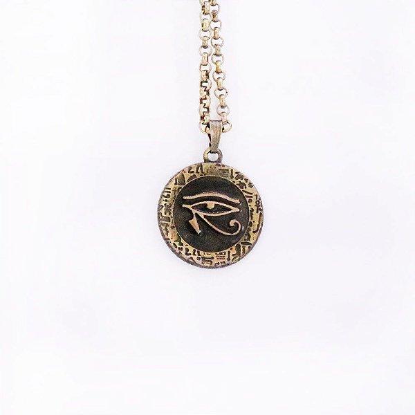 Gargantilha Olho de Hórus - Ouro Velho