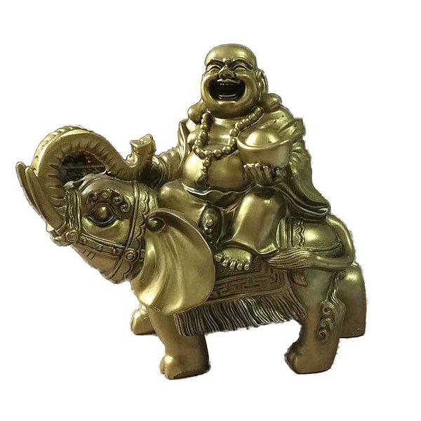 Buda Dourado no Elefante