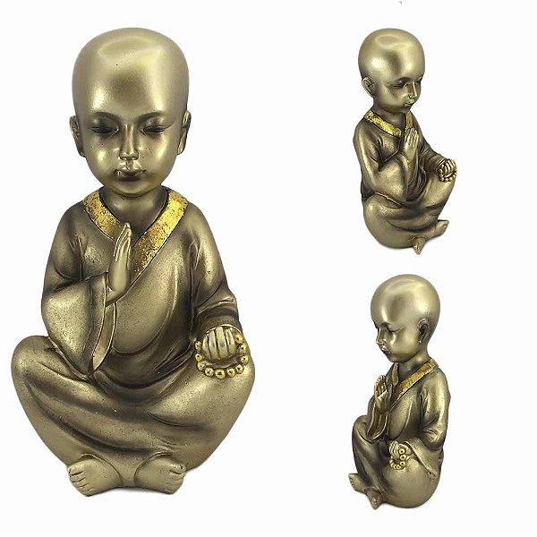 Monge Mantra Dourado em resina - B