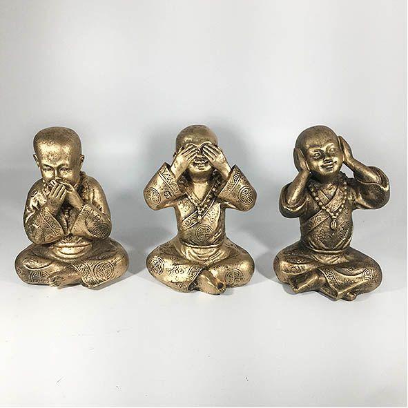 Trio de Budas Não Ouve, Não Fala, Não vê