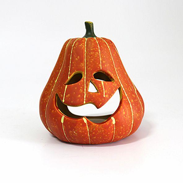 Porta Velas Abóbora Halloween