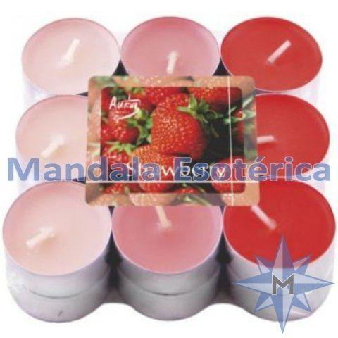 Vela Tlight Morango Pacote Com 18