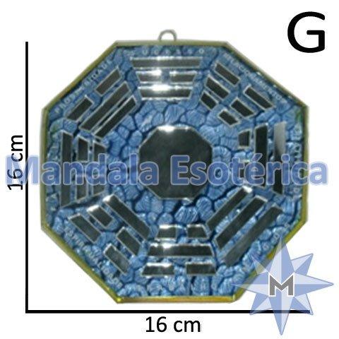 Bá-guá Vidro Espelhado Azul G