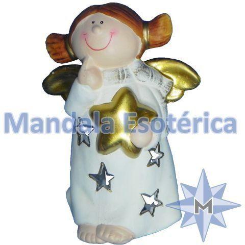 Anjo Porta Velas estrela