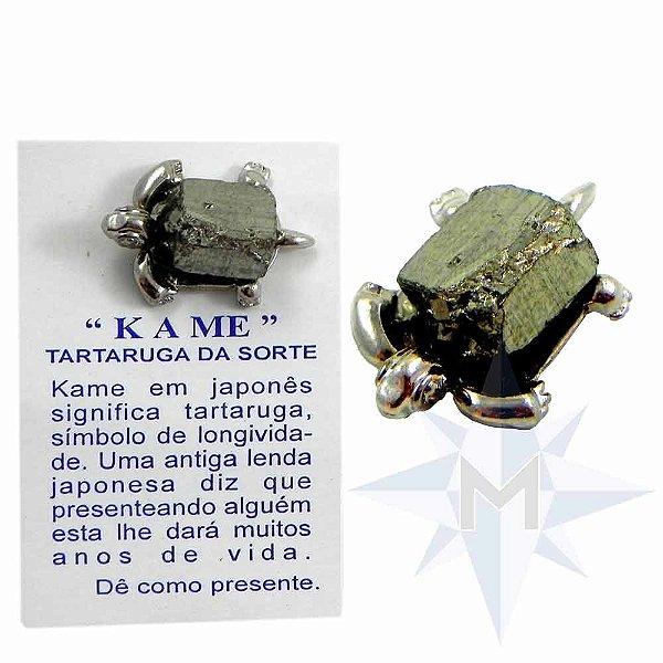 Amuleto Kame com Pirita - Tartaruguinha da Sorte.