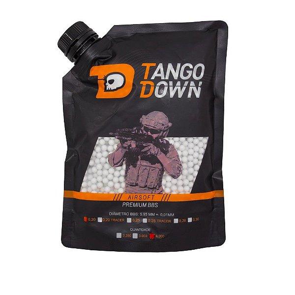 BBs Airsoft 0,20g Premium Tango Down 4000 Unidades