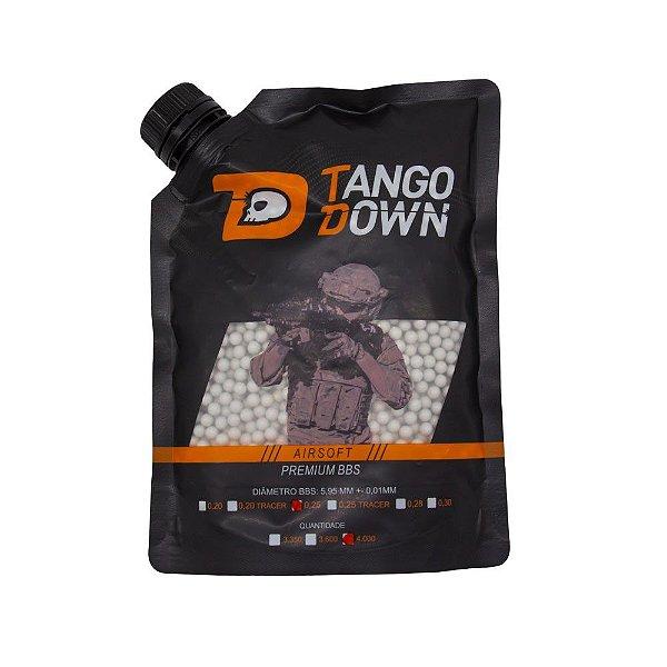 BBs Airsoft 0,25g Premium Tango Down 4000 Unidades