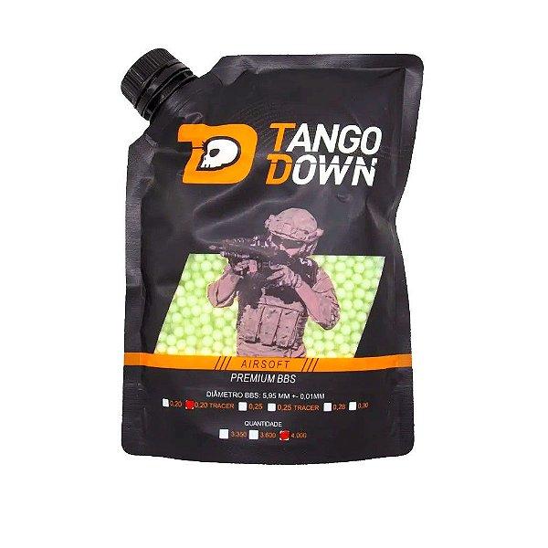 BBs Airsoft TRACER  0,20g Premium Tango Down 4000 Unidades