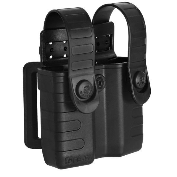 Porta Carregador de Pistola 9mm, 40 Bélica Tab Lock - Preto