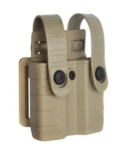 Porta Carregador de Pistola Polímero Bélica Tab Lock - TAN