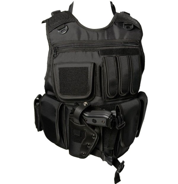 Capa de Colete Tático SWAT Canhoto
