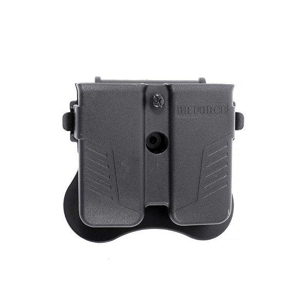 Porta carregador de pistola universal Duplo .380, 9 mm, .40 e .45 - BR Force