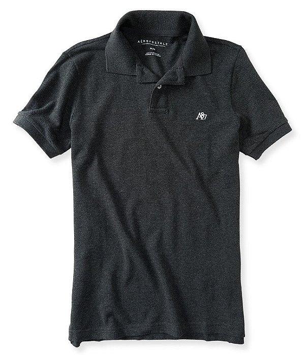 Camisa Polo Aeropostale masculina A87 Solid Logo Piqué