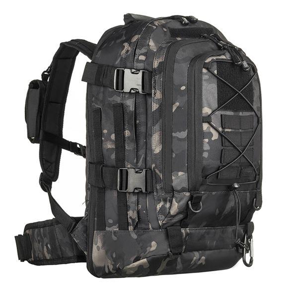 Mochila Tática Militar Invictus Duster 50L - Multicam Black